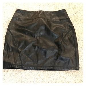 High rise, faux leather skirt- Express